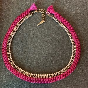 Chloe + Isabel Braided Crystal Collar Necklace